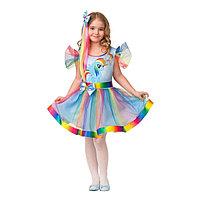 Карнавальный костюм 'Радуга Дэш', платье, волосы на заколке, р. 30, рост 116 см