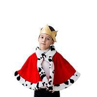 Карнавальный костюм 'Король', корона, мантия, 5-7 лет, рост 122-134 см