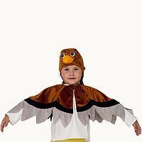 Карнавальный костюм 'Воробей', шапка, накидка, 5-7 лет, рост 122-134 см