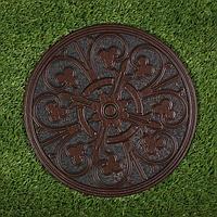 Мобильная садовая плитка-коврик, d 30 см, резина, 'Узор'