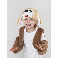Карнавальный костюм 'Собачка' меховой жилет, унты , шапка, р-р30