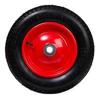 Колесо пневматическое, d 360 мм, ступица диаметр 25 мм, ширина покрышки 75 мм