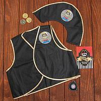 Карнавальный костюм 'Гроза морей', 6 предметов шляпа, жилетка, наглазник, кодекс, жетоны 3 шт.