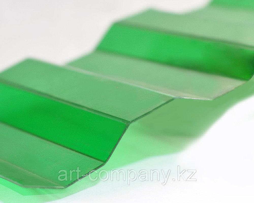 Профилированный поликарбонат «Трапеция» Зелёный