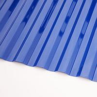 Профилированный поликарбонат «Трапеция» Голубой