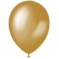 Шар латексный 12', металлик, набор 100 шт., цвет золотой