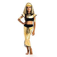 Карнавальный костюм 'Клеопатра', головной убор, топик, штаны, нарукавники, р. 30, рост 122 см