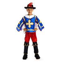 Карнавальный костюм 'Мушкетёр', рубашка-накидка, брюки, сапоги, шляпа, р. 34, рост 134 см