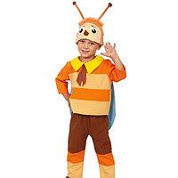 Карнавальный костюм 'Пчелёнок', куртка, бриджи, шапочка, р. 28-30, рост 104-110 см
