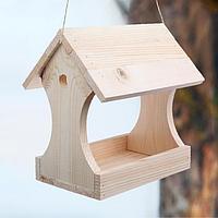 Кормушка для птиц 'Беседка', 11 x 24 x 19 см, деревянная