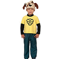 Карнавальный костюм 'Дружок', рубаха, брюки, шапочка, р. 28-30, рост 104-110 см