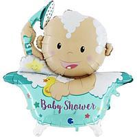 Фольгированный шар 42' 'Малыш в душе'