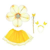 Карнавальный набор 'Цветок', 4 предмета крылья, жезл, юбка, ободок, 3-5 лет