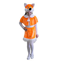 Карнавальный костюм 'Лисичка', пелерина, юбка, маска-шапочка, р. 30-32, рост 122 см