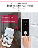 WI-FI видеозвонок беспроводной с датчиком движения (1080P) TUYA