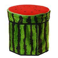 Детская корзина для игрушек 'Фрукты, ягоды', пуфик, 31х31х29 см, МИКС