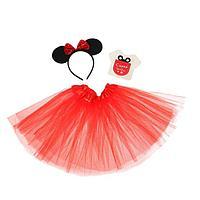 Карнавальный костюм 'Самая красивая' ободок с ушками, юбка, термонаклейка