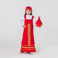 Карнавальный костюм 'Матрёшка', платок, сарафан, косынка, рубашка, рост 116-122 см, 5-6 лет