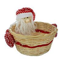 Конфетница 'Дед мороз', с варежками, вместимость 1000 г