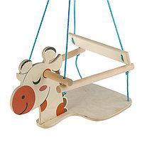 Качели детские подвесные 'Жираф', деревянные, сиденье 30x30см