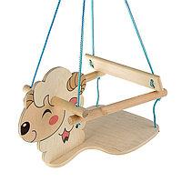 Качели детские подвесные 'Барашек', деревянные, сиденье 30x30см