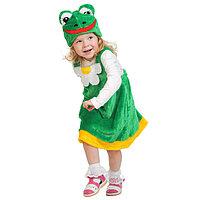 Карнавальный костюм 'Лягушка' плюш, сарафан, маска, рост 92-122 см