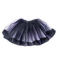 Карнавальная юбка, трехслойная, цвет чёрный