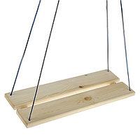 Качели подвесные, деревянные, сиденье 60x22см
