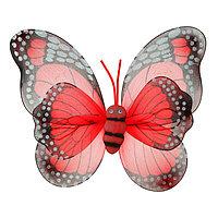 Карнавальные крылья 'Бабочка', для детей, цвет красный