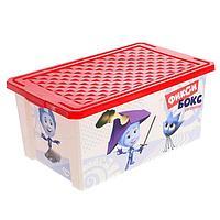 Детский ящик для хранения игрушек 'Фиксики, 12 литров, цвет красный
