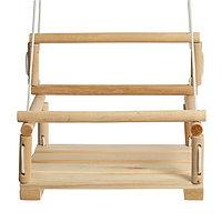 Качели детские подвесные, деревянные, сиденье 28x28см