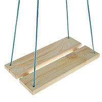 Качели подвесные, деревянные, сиденье 40x22см