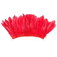 Карнавальный головной убор 'Индеец', с перьями, цвет красный