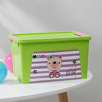 Контейнер для хранения игрушек Pet Shop. Smart Box, 3,5 л, цвет зелёный
