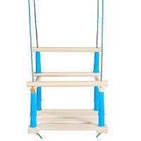 Качели детские подвесные, деревянные, сиденье 33x22см, МИКС