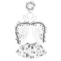 Карнавальный набор 'Снежинка', 3 предмета ободок, крылья, юбка, 3-5 лет