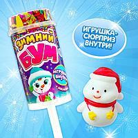 Хлопушка на палочке 'Зимний бум', тигр 1, с наклейками (комплект из 6 шт.)