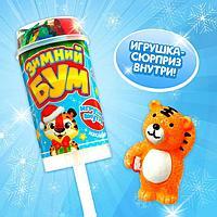 Хлопушка на палочке 'Зимний бум', тигр 2, с наклейками (комплект из 6 шт.)