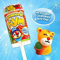 Хлопушка на палочке 'Зимний бум', снеговик, с наклейками (комплект из 6 шт.)