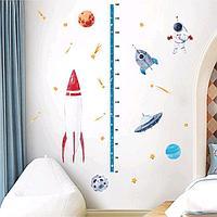 Наклейка пластик интерьерная ростомер 'Космонавтика' 50х70 см