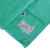 Тент защитный, 3 x 2 м, плотность 90 г/м, люверсы шаг 1 м, тарпаулин, УФ, зелёный