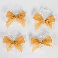 Бантики на ручки свадебного автомобиля, 4 шт., золотые