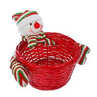 Конфетница 'Снеговичок', полосатая шапочка, вместимость 500 г
