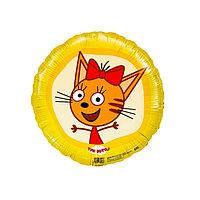 Шар фольгированный 18' 'Карамелька', три кота (комплект из 5 шт.)
