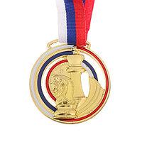 Медаль тематическая 'Шахматы', золото, d6 см