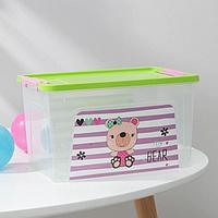 Контейнер для хранения игрушек Pet Shop. Smart Box, 3,5 л, цвет прозрачно-зелёный