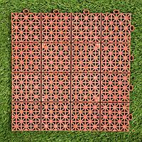 Модульное покрытие, 30 x 30 x 1.1 см, пластик, терракотовый, 1 шт. (комплект из 10 шт.)