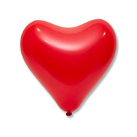 Шар латексный 12', сердце, стандарт, набор 50 шт., цвет красный