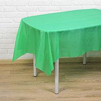 Скатерть 'Праздничный стол', цвет зелёный, 137х183 см