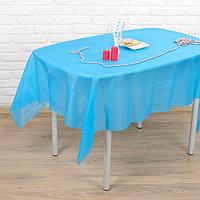 Скатерть 'Праздничный стол', 137х183 см, цвет, голубой